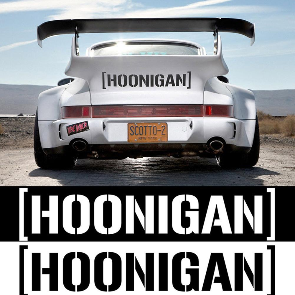Hoonigan Print Car Window Door Decals Self-Adhesive Racing Reflective Stickers Car Sticker