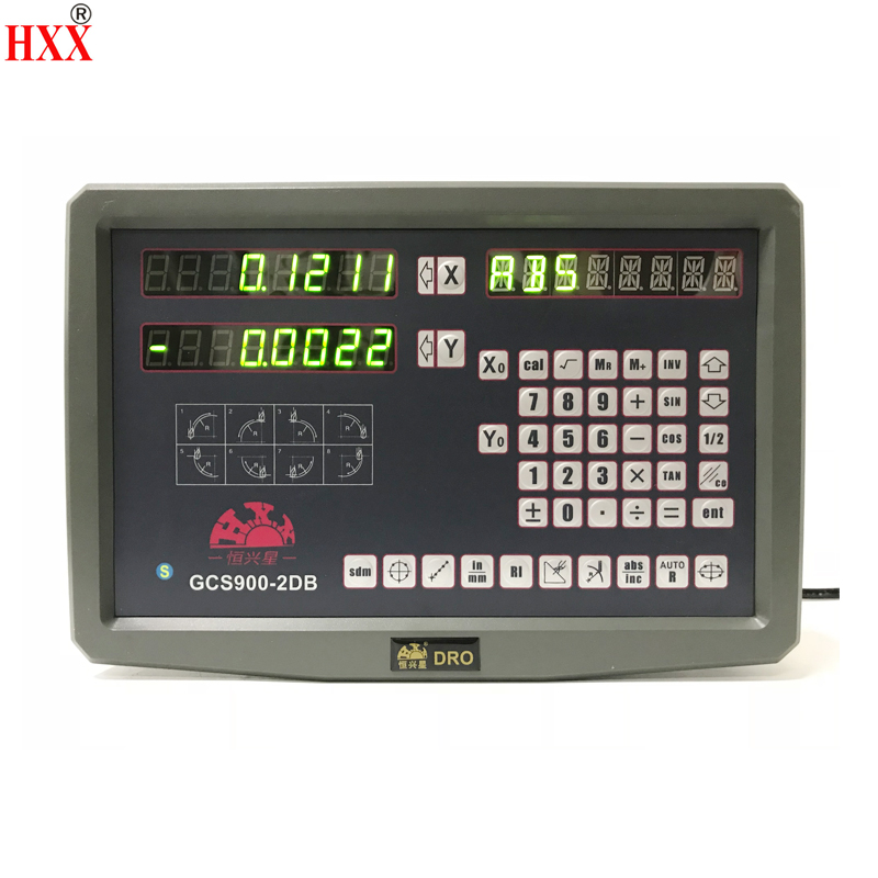 hxx high precision instruments tool 2 axis dro digital display/screen GCS900-2DB for lathe/machines machines with one piece hxx high precision multifunction new dro set gcs900 2da and 2 pc linear glass scales 5u gcs898 50 1000mm for machines