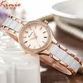 Kimio famosa marca de luxo mulheres relógios moda relógios de pulso de aço inoxidável para as mulheres diamante relógios de quartzo relógios. reloj