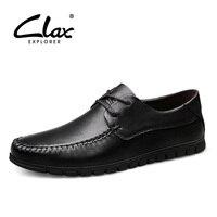 CLAX Mens Black Dress Shoes Genuine Leather Summer Autumn Men's Derby Shoe Formal Shoe social chaussure homme Soft Plus Size