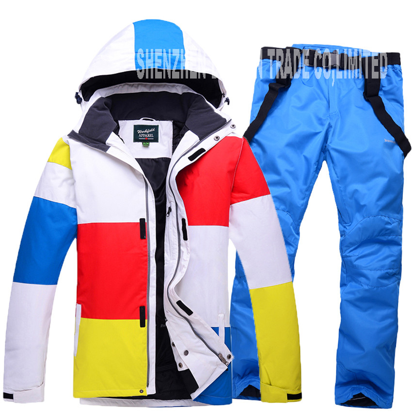 Men Ski Suit Winter Waterproof Thicken Ski Clothing Windproof Breathable Snowboarding Suits Outdoor Super Warm Clothes pants XXL цены