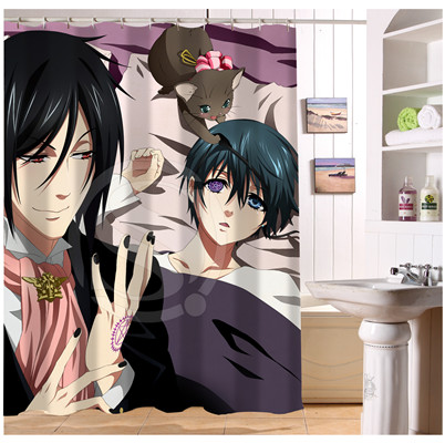 U412 63 Custom Home Decor Famous Anese Anime Black Butler Fabric Modern Shower Curtain European