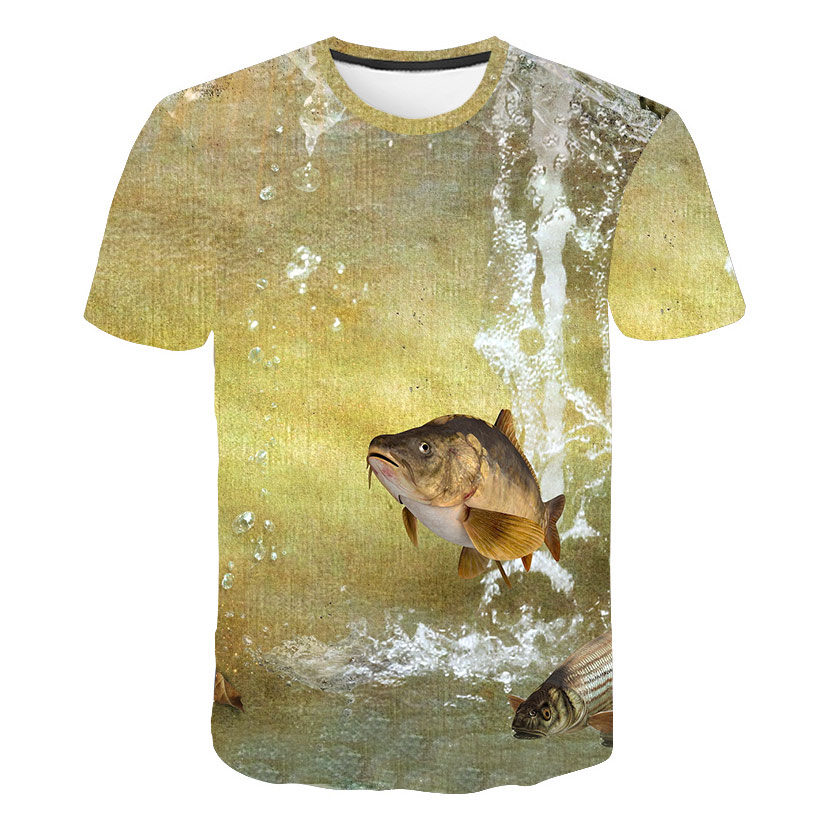 Birthday gift for dad boyfriend funny fishing T shirt fish Hydrophobic T shirt man casual fashion personality fisherman Tops in T Shirts from Men 39 s Clothing