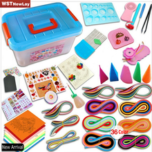 Decor Complete Quilling paper set color paper drawing material package beginners tool Board with Storage Box Suitcase Holder
