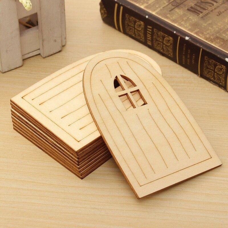 Home Made Modern Craft Of The Week 2 Rustic Christmas Stars: Modern 10Pcs/set Laser Cut Door Shape Wooden Craft