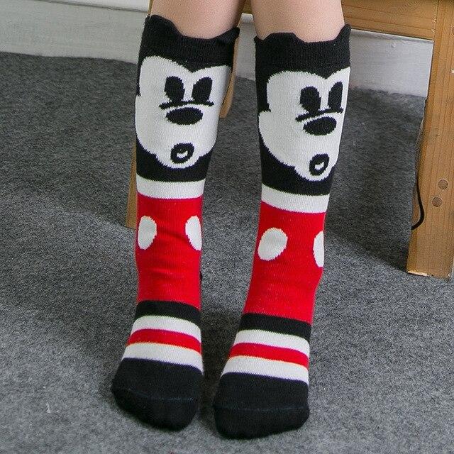 a6bdf86a7f0 Baby Kids High Knee Socks School Cartoon Cat Lace Solid Socks Leg Warmer  For Girls Children Spring Autumn Wear