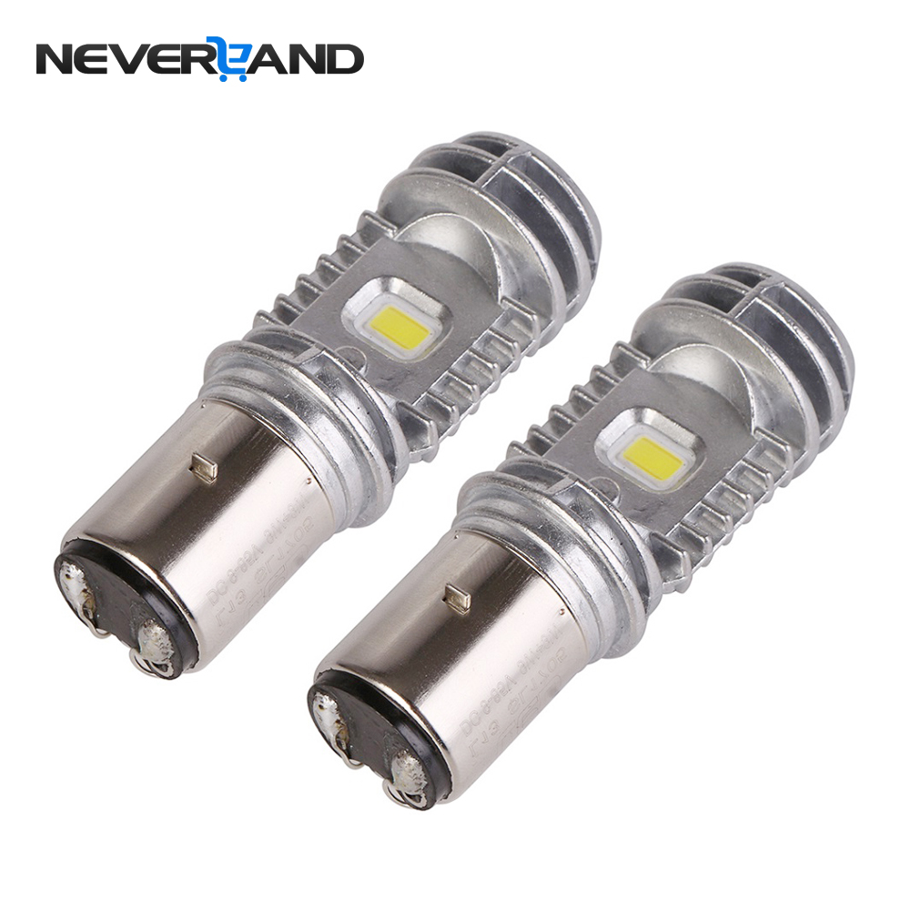 2pcs BA20D Hi/Lo 36W 6000K 9-85V High Quality Motorcycle ATV LED Headlight Bulbs DRL Fog ...