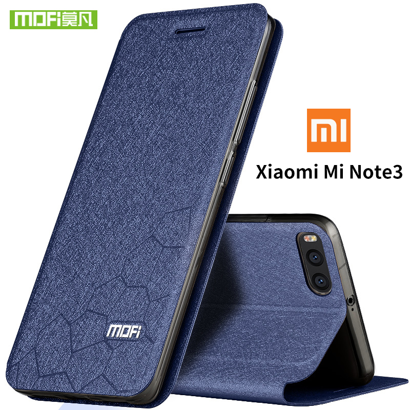 xiaomi mi note 3 case cover Mofi original flip leather xiaomi note 3 pro silicone TPU fundas xiaomi note3 note3pro transparent