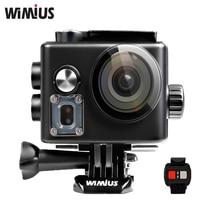 Wimius действий камеры 4 К wi-fi ultra hd 1080 P/60fps перейти водонепроницаемый 60 м про Видео Спорт Камеры Автомобиля DVR + Пульт дистанционного управления + 2 батареи