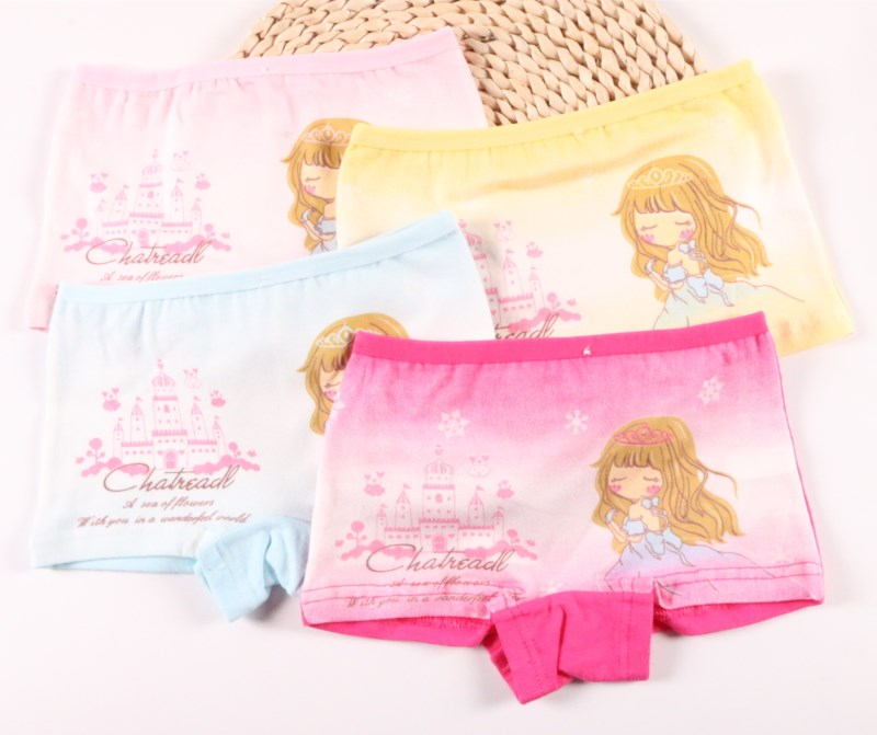 4pcs/lot Children Girls Boxer Gift Underwear Kids Fashion Character Boxer Brief Infant Baby Girl Panties 2-9y C-tnn0128 Famous For Selected Materials Novel Designs Delightful Colors And Exquisite Workmanship