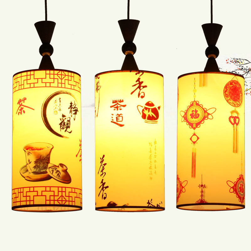 Modern Chinese style antique wiredrawing pendant light lighting lamps Living room lights,E27 light bulb, Chinese painting new arrival modern chinese style bamboo wool lamps rustic bamboo pendant light 3015 free shipping