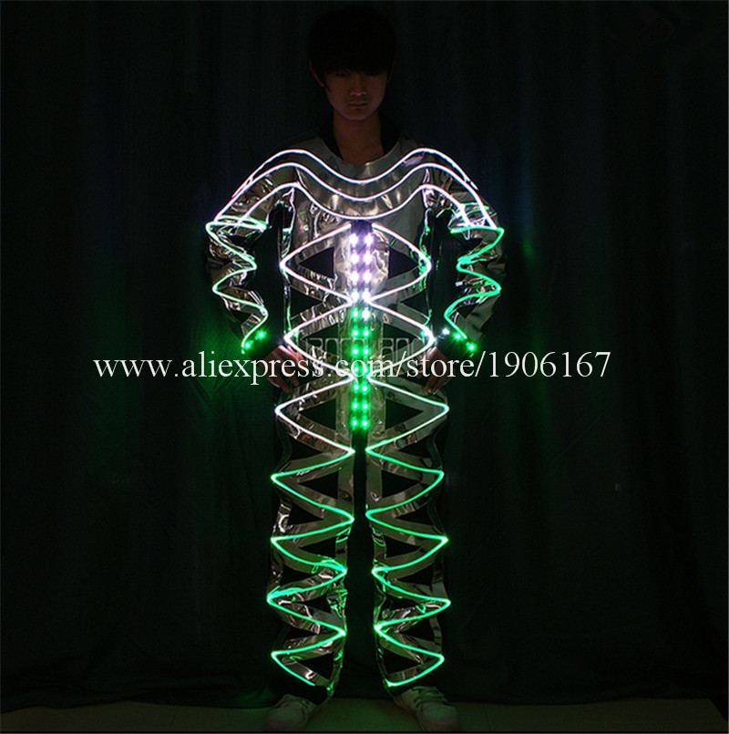 Full color LED light up Fiber Optic Jumpsuits05