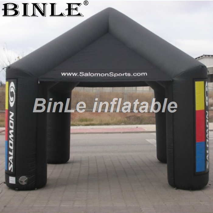 все цены на Custom 5m black inflatable square tent air supported cube event tent for exhibition