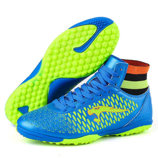 Kids Soccer Shoes High Ankle Boys Football Boots Superfly Original TF botas  de futbol voetbalschoenen chaussure foot b67daa2408cea