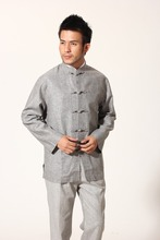 цена Chinese Traditional Costume Kungfu Suit Cotton Linen Jacket Coat Size  S to 3XL