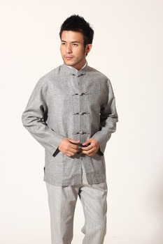 Chinese Traditional Costume Kungfu Suit Cotton Linen Jacket Coat Size  S to 3XL