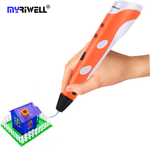 100% Original Myriwell 3D Pen 3D Printing Pen Best Gifts for Kids Christmas Birthday Gifts Diy Drawing Pen 3D Lapiceros Creativo цена