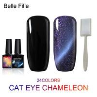 A D 1 Pcs Magnetic Cat Eyes Color Manicure Dark Cat Color Gel Nail Polish Soak