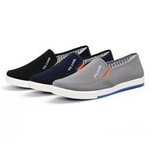 2018 Men Shoes Platform Canvas Man Vulcanize Sneakers High Quality Brand Design Office Drive Four Seasons Shoes Cozy Breathable