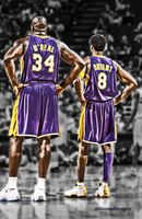 101 Kobe Bryant LA Lakers NBA MVP Shaq Art 24 X37 Poster