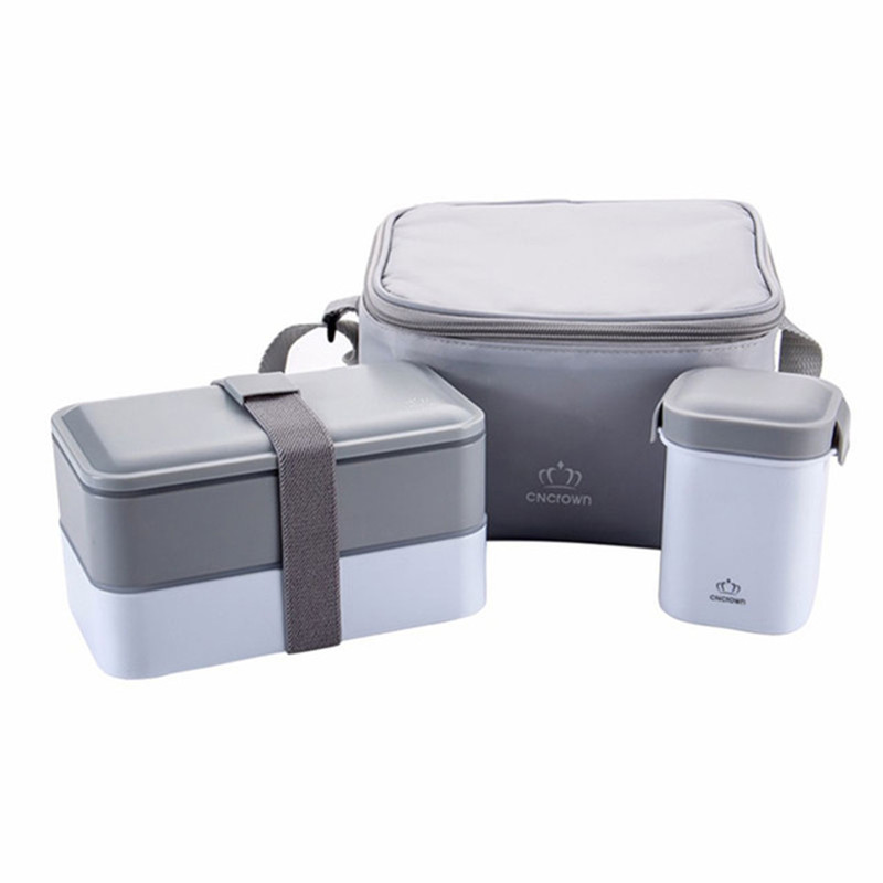 Portable Japanese Bento Box Bento Lunch box Water Soup Mug Outdoor Insulated Lunch Cooler Tote Bag Food Container Microwave