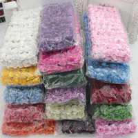 144 unids/lote 1,8 cm Mini Flores rosas de papel ramo de boda decoración Flor de papel para DIY papel de Flores para scrapbooking barato Flores