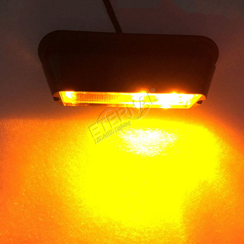 free shipping 4pcs 4inch 4W LED strobe emergency light truck trailer tractor machine forestry motor safety flash amber lamp