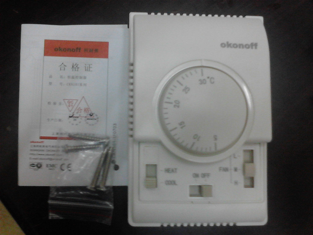 ФОТО okonoff \ thermostat CKN101af \ mechanical thermostat \ air conditioning panel