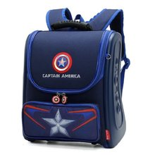 2019 New Children School Bags for Boys Spiderman Backpack Captain America Teenager Schoolbags Kids Student Backpacks Mochila(China)