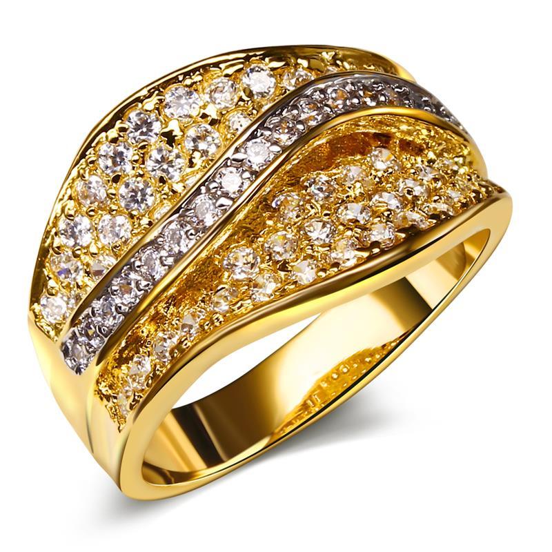 Bijoux Women Joyas De Oro 18k Gold Filled Wedding Rings