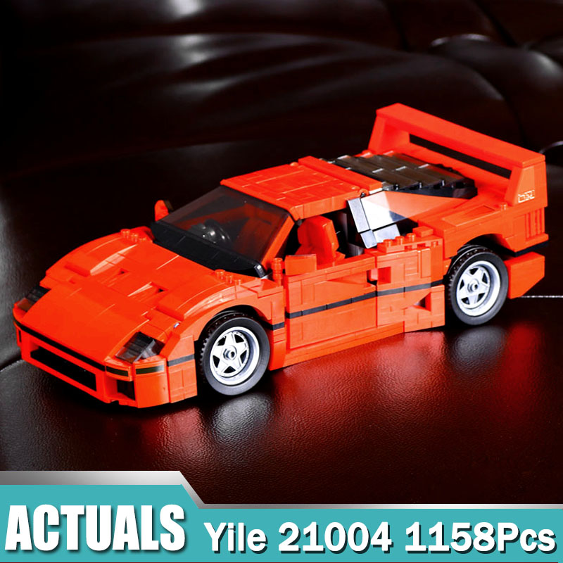 Yile Technic Model 21004 Compatible Legoing with F40 Sport Car 10248 Figure Educational Toys for Children Gift for Boy Girl lepin 21004 technic series f40 sports car 1158pcs model building blocks kits bricks educational toys for children gifts 10248