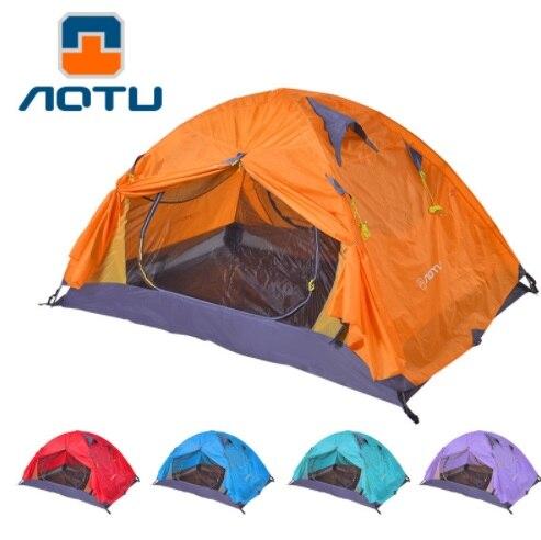 Aotu 1-2 personne Camping tente Montaineering professionnel randonnée cyclisme AT6512 extérieur aluminium pôle étanche 4 saison tente