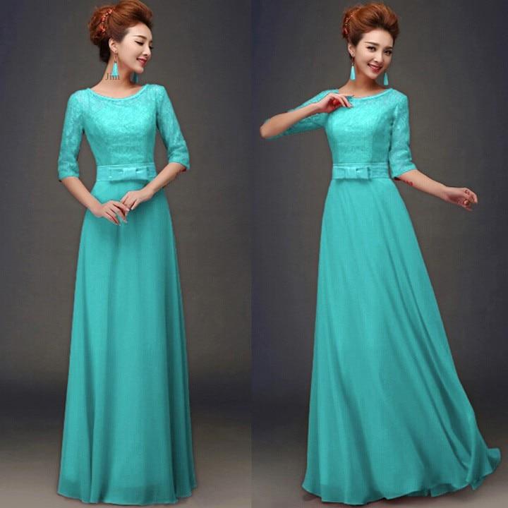 Drop Sleeve Wedding Gowns With: Drop Shipping Elegant Women Maxi Dress Half Sleeve Blue