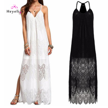 Long Bikini Cover Ups Women Dress Solid  Lace Sexy Beach Tunic Swimsuits Cover Ups Plus Size Beach Sarongs Holiday Summer Dress graphic two tone self tie cover ups dress