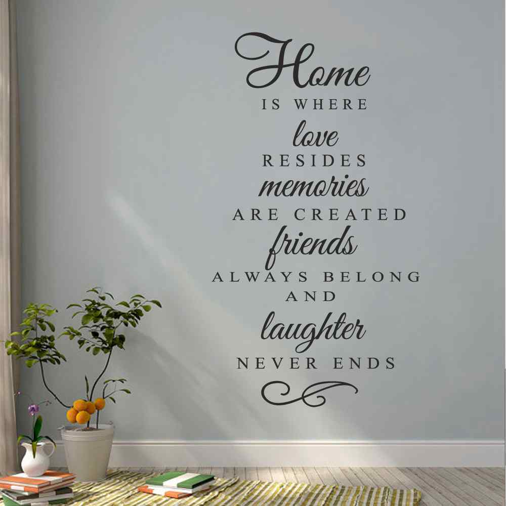 compare prices on create window sticker online shopping buy low home is where love resides memories are created vinyl quote sticker family wall decal