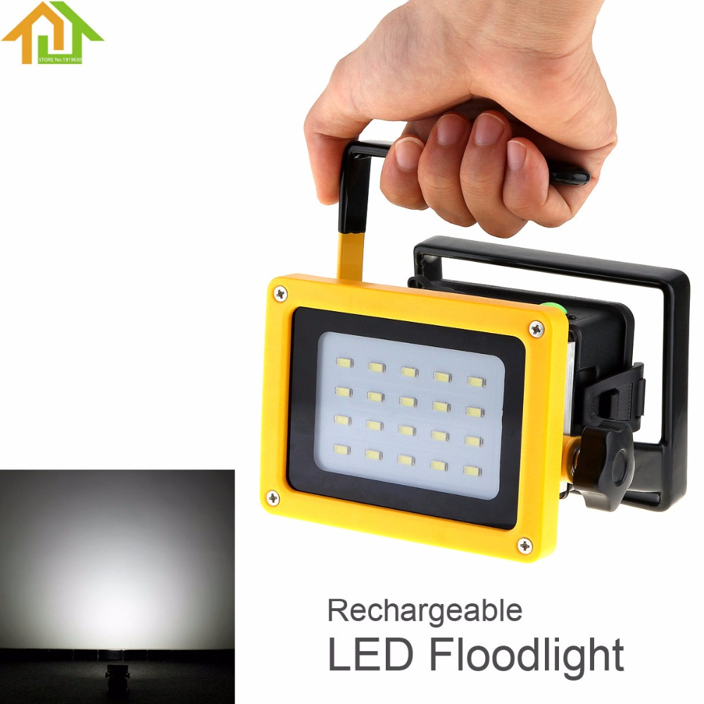 3 Mode Waterproof LED Rechargeable Floodlight 20 SMD LEDs Outdoor Portable Flood Light Camping Lamp AC