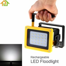 3-Mode Waterproof LED Rechargeable Floodlight 20 SMD LEDs Outdoor Portable Flood Light Camping Lamp + AC Adapter