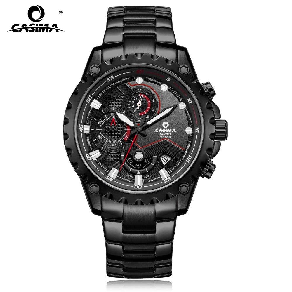 CASIMA Спорт Мужские часы модного бренда кварцевые наручные часы световой водонепроницаемые часы Мужские Многофункциональный Relogio mascul #8203