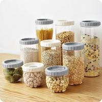 Plastic Stackable Food Container With Lid 3 PCS/Lot Kitchen Organizer Food Moisture proof Storage Jars