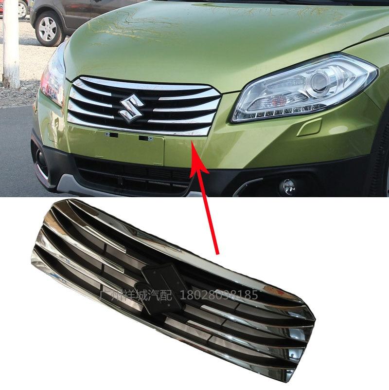 Для Suzuki s-крест SX4, который 2014-2017 передняя решетка Гилл замена Крышка отделка ABS хромированный пластиковый автомобиль-стайлинг