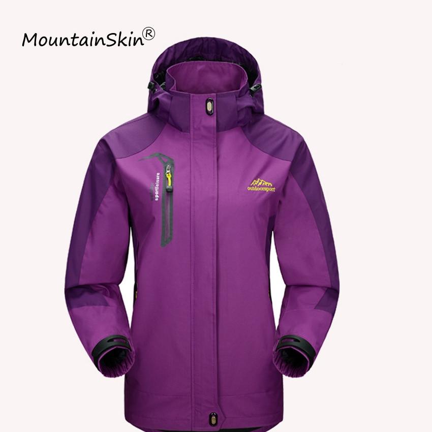 Mountainskin Women Jackets Casual Hooded   Coats   Women Waterproof Windproof Jacket Female Spring Autumn Brand Outerwears LA562