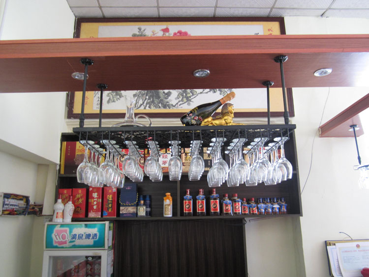 ФОТО Iron wine glass rack theroom hanging cup rack iron wine rack hanging cup holder wine rack cup holder