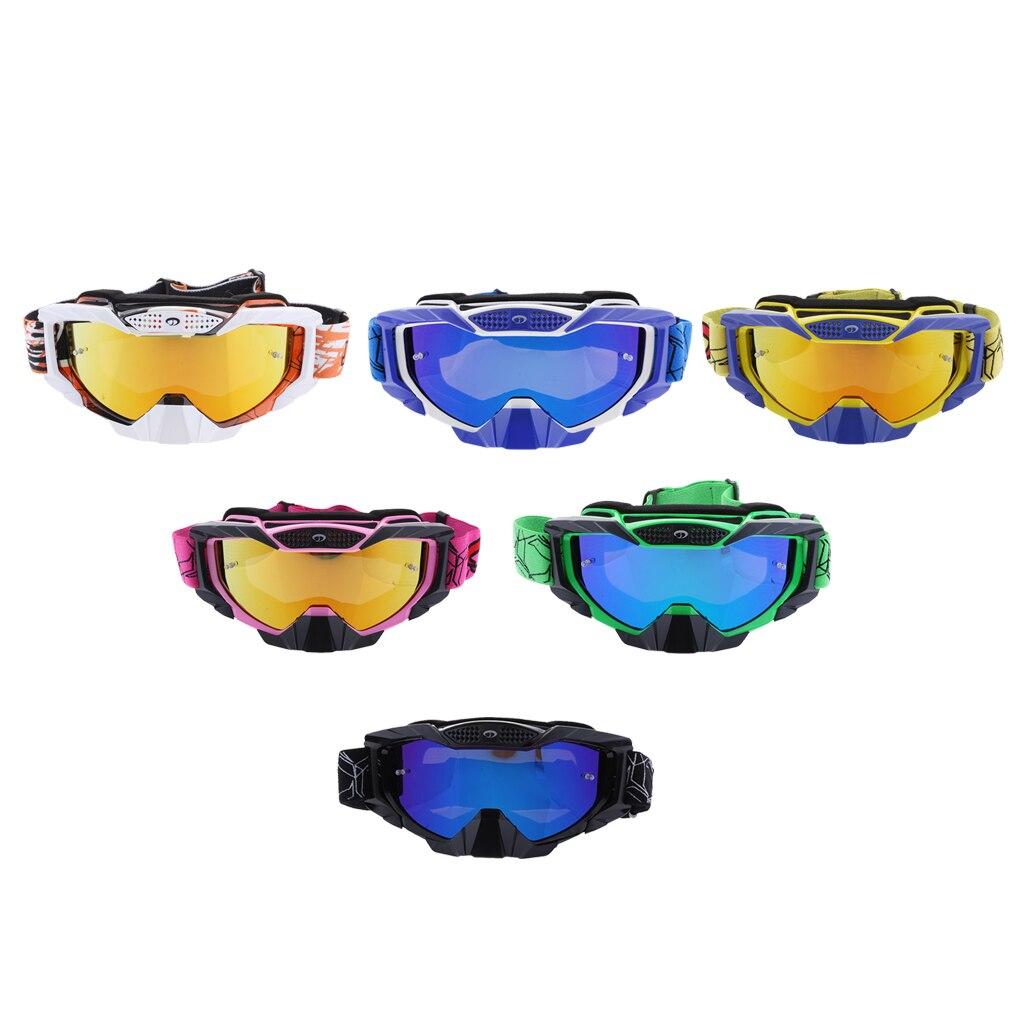 Vintage Motorcycle Goggles Retro Aviator Pilot Cruiser Steampunk Motocross Classic Goggles ATV Bike UV Protection Colorful Lens