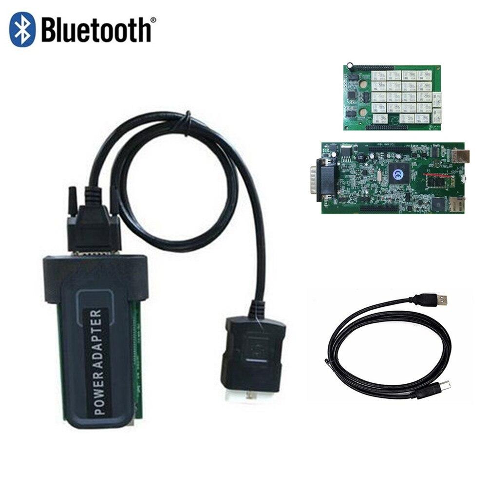 С Bluetooth USB 2016,0 новейшее программное обеспечение TCS Cdp Pro Plus автоматический сканер Obd Obd2 сканирования для автомобиля грузовик инструмент диагн...