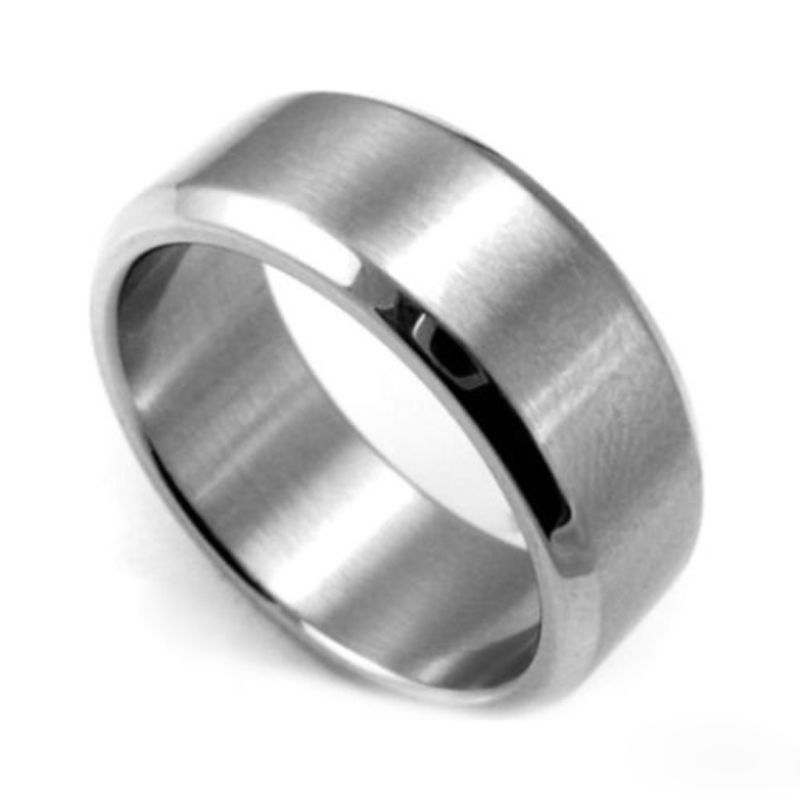 Hot 1 Pcs New Nice Women Stainless Steel Ring Band Anium Silver Black Men Size 7 To 12 Wedding Anillos De Acero Inoxidable In Rings From Jewelry
