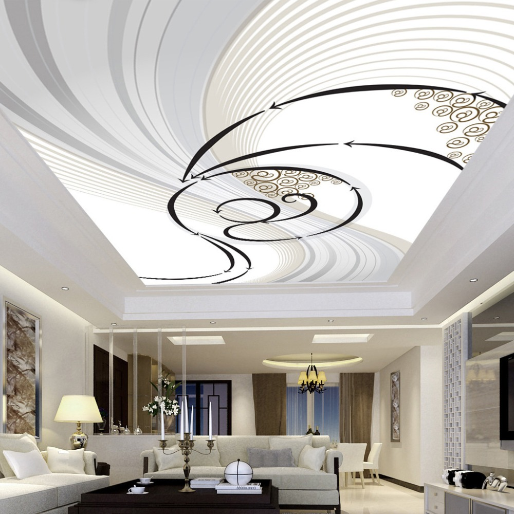 Modern Abstract Dynamic Zenith Pattern Design Ceiling Mural ...