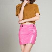 Genuine Leather Skirt Slim Hip K150