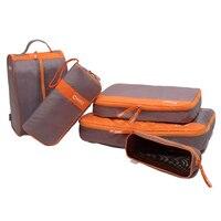 מכירה חמה שקיות אחסון בגדי נעליים מזדמנים CHOOCI 7 יחידות לנסיעת עסקי נסיעות צבע: אפור + כתום