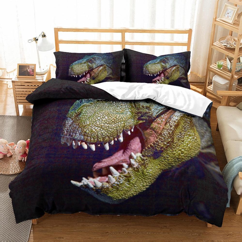 Bedding Dinosaur Teeth Bed Sheet Twin Queen King Musolei 3d Duvet Cover Set Animal Dinosaur Head Home Textile