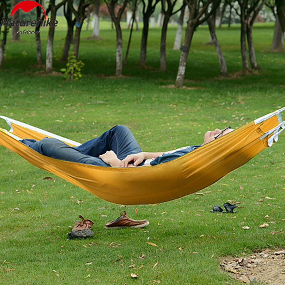 Sleeping Bags Humorous Naturehike Parachute Nylon Fabric Hammock Outdoor Traveling Camping Single Person Sleeping Bed Portable Fabric Camping Hammock Lovely Luster